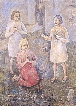 Oscar di Prata - Fanciulle al camposanto