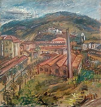 Oscar di Prata - Il castello e i ronchi da ovest